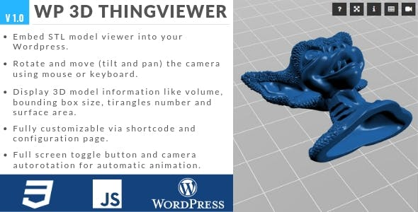 WP 3D Thingviewer