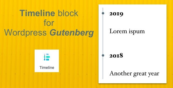 Timeline Block for Wordpress Gutenberg Editor