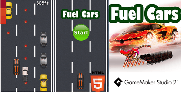 FuelCars Game- HTML5 Game + Android + facebook instant game + ads