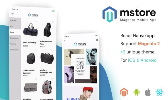 MStore Magento - the complete react native app for Magento 2 - CodeCanyon Item for Sale