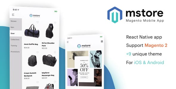 MStore Magento - the complete react native app for Magento 2