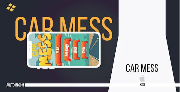 Car Mess Game Template for iPhone and iPad with Admob Ads