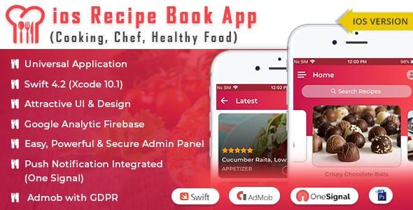 iOS Recipe Book App (Cooking,Chef,Healthy Food, Admob with GDPR)