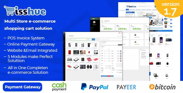 Isshue - Multi Store eCommerce Shopping Cart Solution