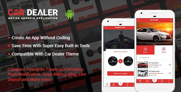 Car Dealer Native Android Application - Java by Potenzaglobalsolutions