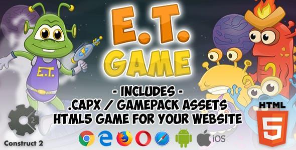 E.T. Game HTML5 Platform - Construct 2 (Assets + .capx + html5 folder)