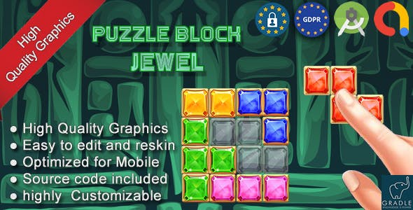 Puzzle Block Pharaoh Egypt (Admob + Android studio) - 15