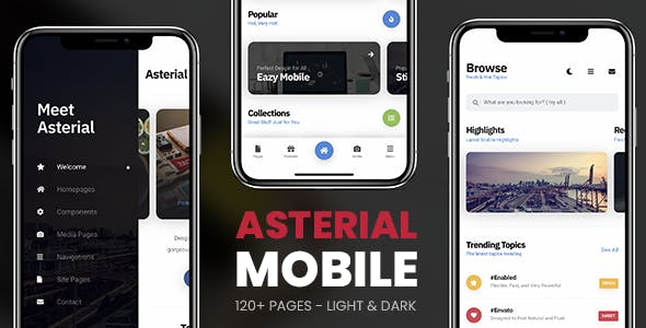 Asterial Mobile | PhoneGap & Cordova Mobile App - CodeCanyon Item for Sale