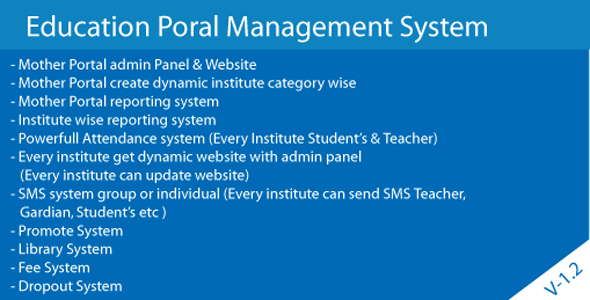 Cloud Base Multiple school Generate & Management System - CodeCanyon Item for Sale