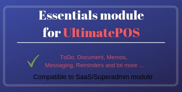 Essentials Module for UltimatePOS