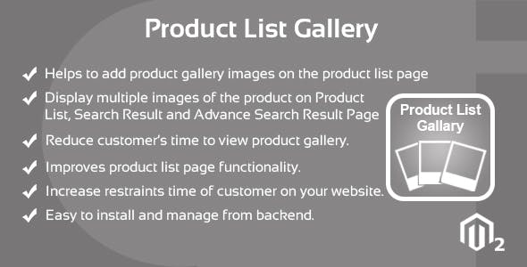Product List Gallery Magento 2 Extension