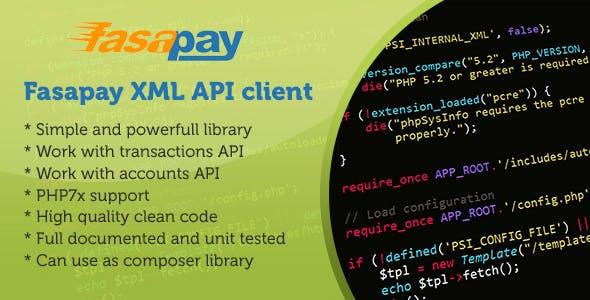 Fasapay XML API client