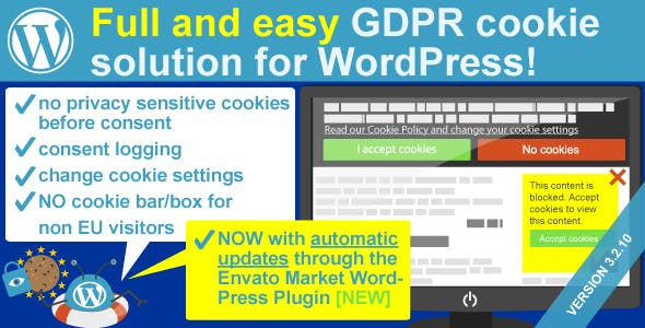 Complete GDPR / AVG Cookie Consent WordPress plugin - WeePie Cookie Allow