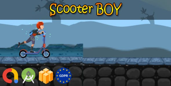 Kettler Scooter boy - Android Studio + Buildbox Template + Admob + GDPR + API 27 + Eclipse