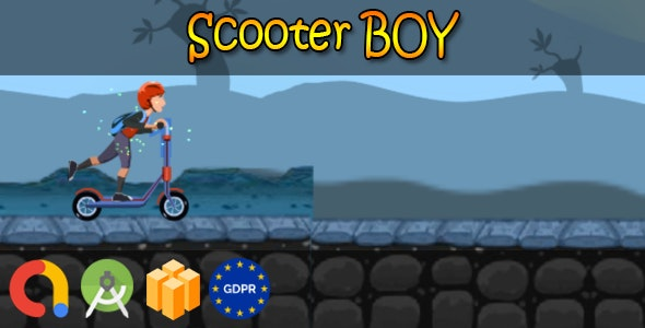 Kettler Scooter boy - Android Studio + Buildbox Template + Admob + GDPR + API 27 + Eclipse - CodeCanyon Item for Sale