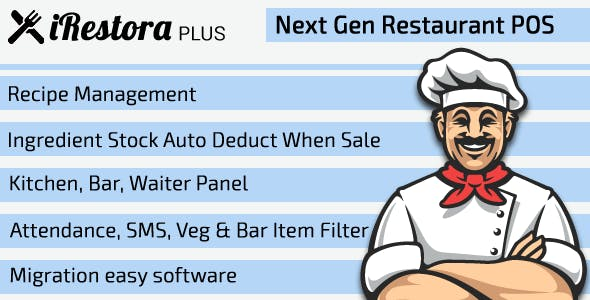 iRestora PLUS - Next Gen Restaurant POS - CodeCanyon Item for Sale