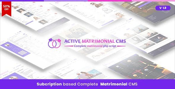 Matrimony PHP Scripts from CodeCanyon