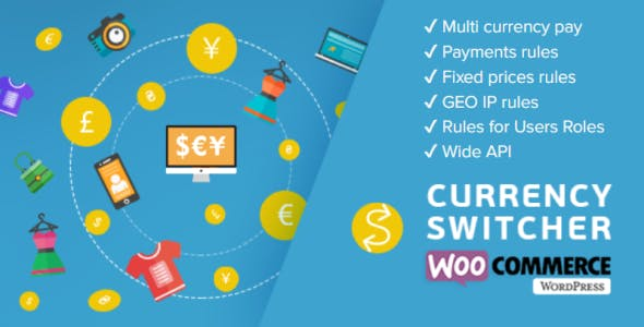 WooCommerce Currency Switcher - Multi Currency and Multi Pay for WooCommerce        Nulled