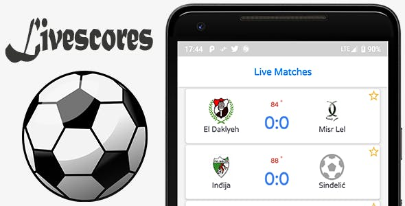 Make A Live Scores App With Mobile App Templates from CodeCanyon