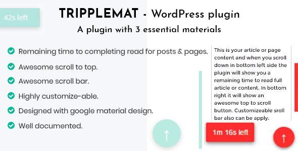 Tripplemat WordPress Plugin