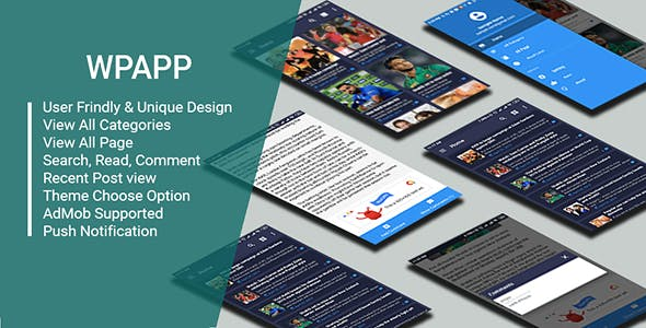 WP App - Wordpress Site App With Push Nitification & Admob Support