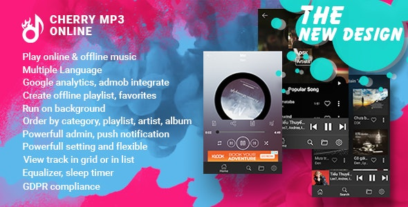 Cherry - Android Online Music Player with Admin Panel - CodeCanyon Item for Sale