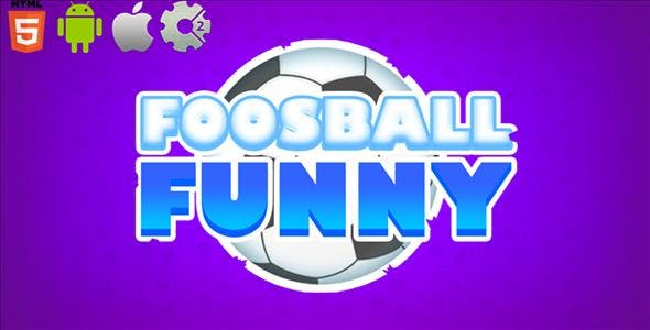 FoosBall Funny - HTML5 Game + Mobile Version! (Construct-2