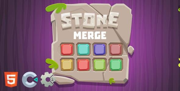 Stone Merge - HTML5 Puzzle Game (Construct 2/3)