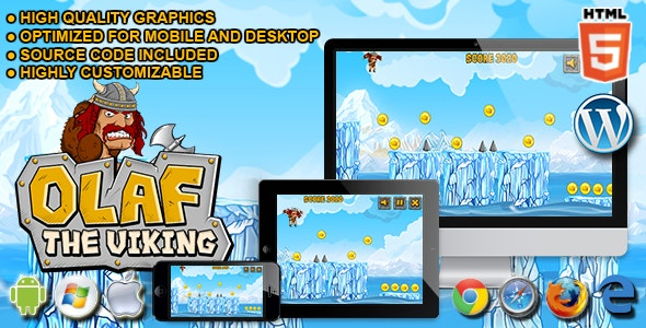 Olaf The Viking - HTML5 Running Game - CodeCanyon Item for Sale