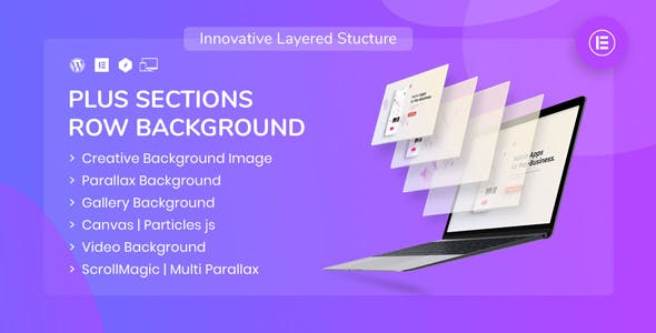 PlusSections - Ultimate Parallax | Video | Particles Row Background for Elementor