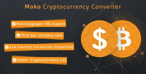 Moko Cryptocurrency Converter