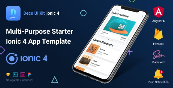 Deco UI Kit - Multi-purpose Starter Ionic 4 App Template - Angular 6, Sass, Firebase
