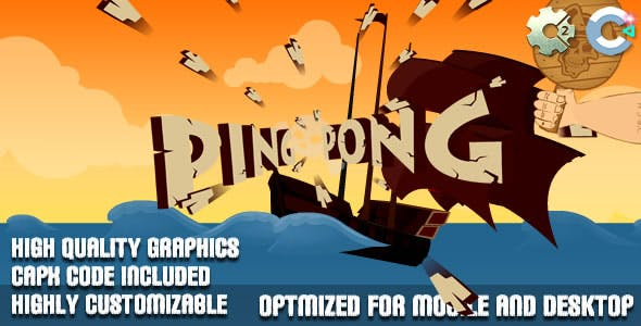 Ping Pong - Survival (C2, C3, HTML5) Game.