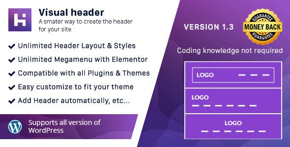 Visual Header - Header & MegaMenu Builder for WordPress