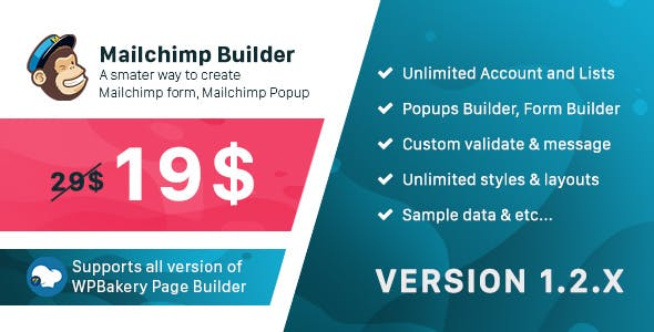 Mailchimp Builder - Addon WPBakery Page Builder (formerly Visual Composer)