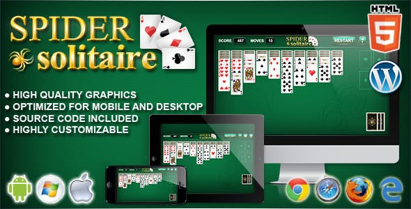 Spider Solitaire - HTML5 Solitaire Game