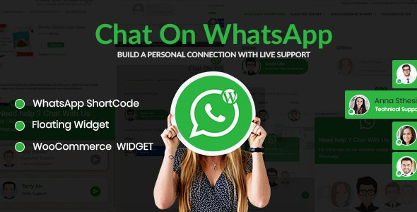 Chat on WhatsApp - WhatsApp chat Plugin for WordPress - CodeCanyon Item for Sale
