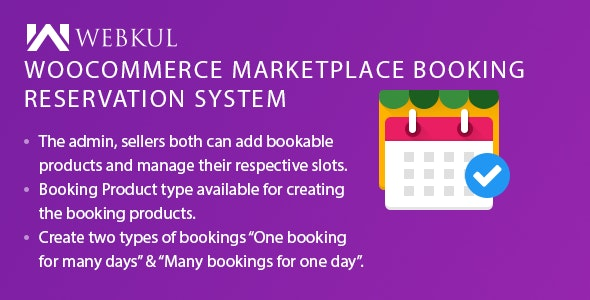 Multi-Vendor Booking Reservation System for WooCommerce by webkul