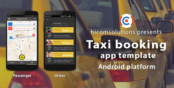 Taxi booking Android App Template - CodeCanyon Item for Sale