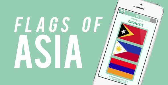 Asia Flags Quiz Game