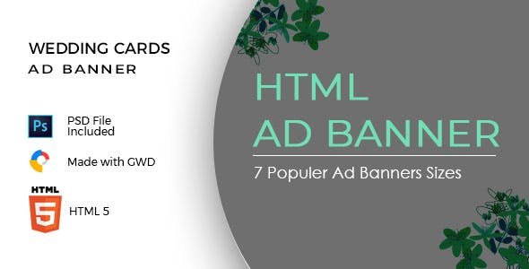 Wedding Cards Html5 Ad Banners