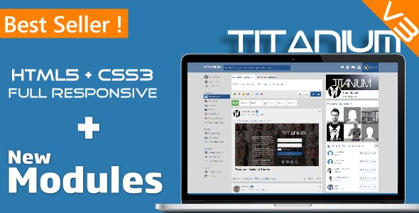 Titanium Theme V3 for Socialkit