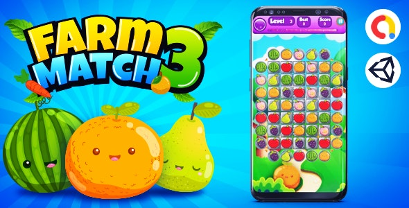 Farm 3 Match Game Template Unity - CodeCanyon Item for Sale
