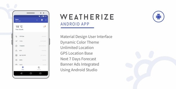 Weatherize - Android Premium Weather App 1.0 - CodeCanyon Item for Sale