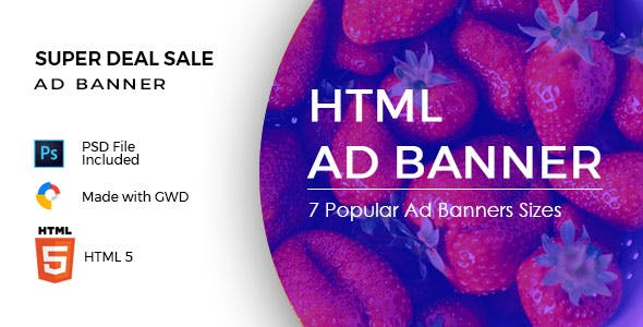 Super Deal Sale - HTML Ad Banners