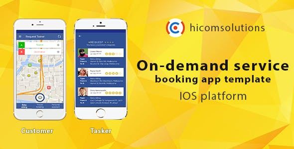 On-demand service booking - iOS app template