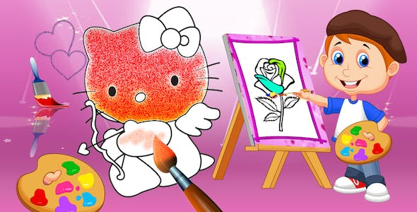 Coloring Book/Pages Android Studio Game for kids