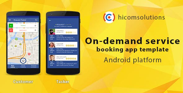On-demand service booking - Android app template