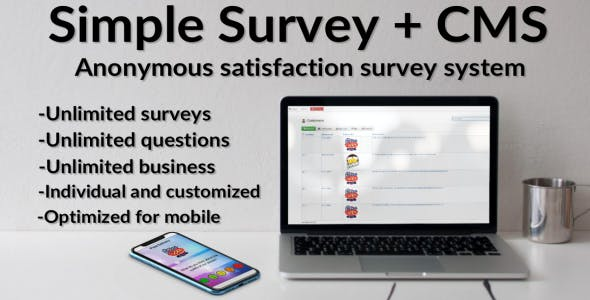 Simple Survey System + CMS (Mobile Optimized)