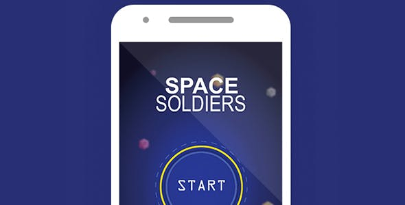 SPACE SOLDIERS WITH ADMOB - ANDROID STUDIO & ECLIPSE FILE